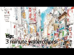 Free Lesson: Learn to Watercolor in 3 Minutes! - Sketchbook Skool Blog