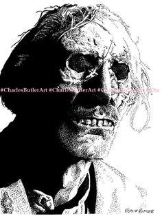 Peter Cushing as Arthur Grimsdyke isograph pen