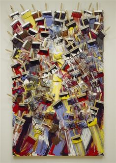 'Max Beckmann's Colors' (1987) by Arman (Armand Pierre Fernandez)