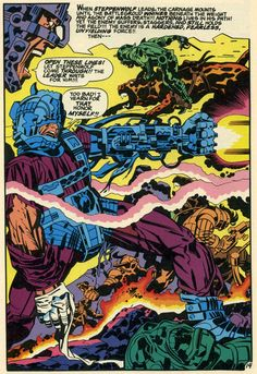Jack Kirby color pages from New Gods Comic Book Pages, Comic Book Artists, Comic Artist, Comic Books Art, Dc Comics, Jack Kirby Art, Jack King, Fourth World, Comic Book Collection