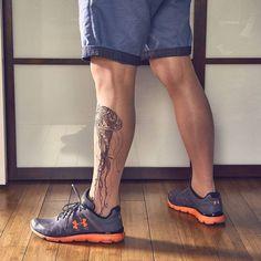 Mantyhose Çorap Unisex Tattoo Tights by Stop&Stare Hosiery Fake Tattoos, Leg Tattoos, Tights Outfit, Leggings Fashion, Tattoo Tights, Temp Tattoo, Tattoo Ink, Jellyfish Tattoo, Sheer Tights