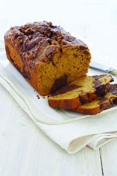 Chocolate-Pumpkin Swirl Cake #dessert #recipe #bread