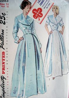 0ccf5466793 Image result for 1940s lapel dressing gown pattern