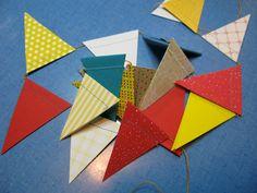 CUSTOM COLOR sewn paper circus decoration