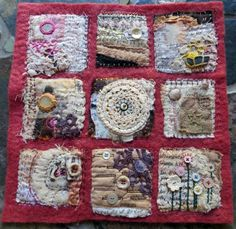 Memories of Loss --- I would like to do a memorial quilt similar to this using some of my Mom's clothing and textiles to remember her...times of joy and times of sadness