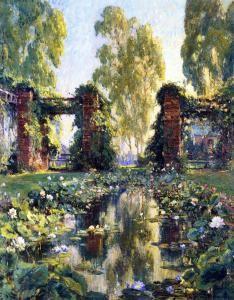 The Lotus Pond, El Encanto, Santa Barbara - Colin Campbell Cooper