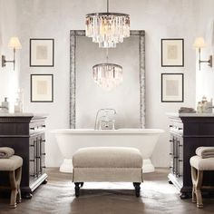 ANN - or coloured vanity??  glamorous white bathroom