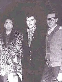 """Big Bopper Ritchie Valens and Buddy Holly """"The day the music died"""" was Feb ~ I love the movie 'La Bamba' mostly about Ritchie Valens life. I also have The Buddy Holly Story. 2 of my favorite movies. Blues Rock, Music Icon, My Music, Music Stuff, Music Songs, Rock And Roll, Genre Musical, Haunting Photos, After Life"""