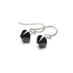 £15 House of colour Winter Mirabella Jet Black earrings Swarovski crystal cool colour