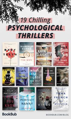 2018 chilled us to the bone with some amazing thriller books. From creepy kids to terrifying neighbors to being unable to trust your own mind, these are the psychological thrillers we couldn& put down this year. Best Books To Read, I Love Books, My Books, Good Books To Read, Books To Read In Your 20s, Sci Fi Books, Great Books, Book Club Books, Book Nerd