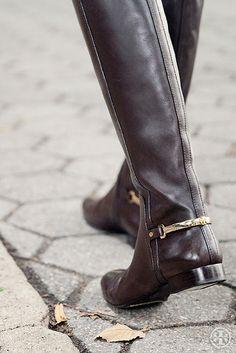 Tory Burch Jess Boot — gold hardware adds polish.