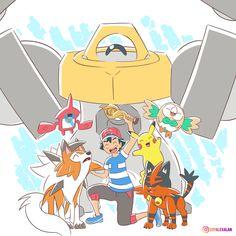 Ash Pokemon Team, Pokemon Z, Pokemon Sketch, Ghost Pokemon, Pokemon Comics, Pokemon Funny, Pokemon Fan Art, Pokemon Ash Ketchum, Cool Pokemon Wallpapers