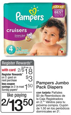 Pampers Jumbo Pack Diapers Just $6 At Walgreens!