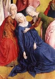Risultati immagini per The Nativity (detail); Master of Salzburg; c. 1400; tempera on