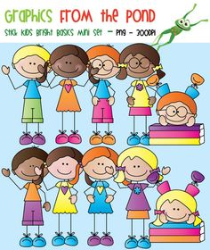 Stick Kids Bright Basics - Graphics From the Pond Clipart