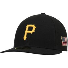 Pittsburgh Pirates New Era Authentic Collection On-Field 59FIFTY Low Profile Flex Hat with 9/11 Side Patch - Black