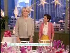 Martha Stewart Weddings magazine Editorial Director Darcy Miller visits the Martha Stewart Show to showcase several of the new themes from the Sandals Wedding by Martha Stewart(TM) Collection.
