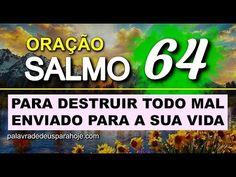 Salmo 64 – Para destruir todo mal enviado para a sua vida - YouTube Prayers, Company Logo, Samos, Youtube, Inspiration Quotes, Words, Holy Spirit Prayer, Life, Bible