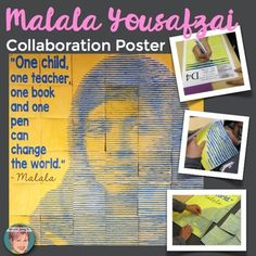Malala Yousafzai Collaboration Poster: My collaboration posters are designed to complement or supplement any Malala Yousafzai lesson or Womens History Unit. This poster is the perfect anticipatory set to pique your students interest or a great extension to finish your studies with a WOW.