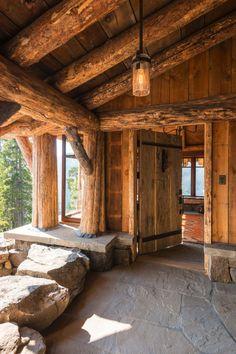 Rustic Design Ideas - Canadian Log Homes Log Cabin Living, Log Cabin Homes, Log Cabins, Rustic Cabins, Rustic Design, Rustic Decor, Rustic Wood, Modern Rustic, Modern Decor