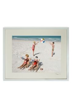 """Hand-signed Barbie Ken and Friends Suntanning Framed Print - 17"""" W x 21"""" L x 1.5"""" D by Barbie and Ken Hand-signed Art on @HauteLook"""