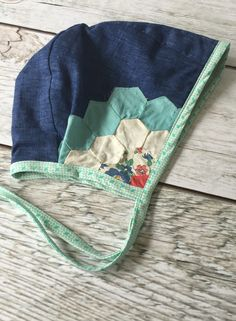 Handmade Bonnet With Vintage Quilt Detail | TheRoadLessRaveled on Etsy #VintageKidsFashion Vintage Kids Fashion, Little Girl Fashion, My Little Girl, Sewing For Kids, Baby Sewing, Crochet Baby Bonnet, Bohemian Girls, Baby Bonnets, Vintage Quilts
