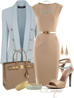 """""""Classy with these heels"""" by ccroquer ❤ liked on Polyvore"""