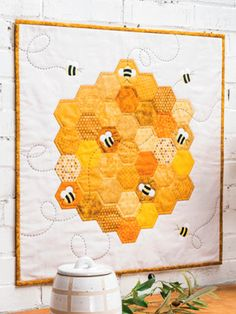 Quilt Patterns in the Current Issue of Quilter's World Lap Quilts, Small Quilts, Mini Quilts, Quilting Tutorials, Quilting Projects, Quilting Designs, Hexagon Quilt Pattern, Lap Quilt Patterns, Hexagon Patchwork