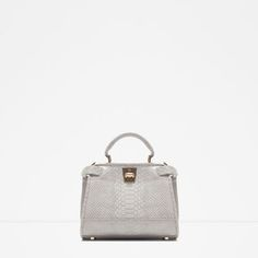 Image 1 of MINI CITY BAG WITH DOUBLE CLOSURE from Zara