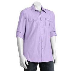Apt. 9® Modern-Fit Military Roll-Tab Casual Button-Down Shirt