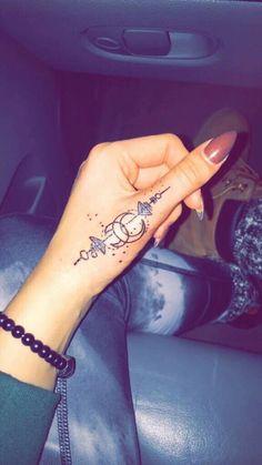 Imagine tattoo, nails, and hand