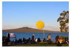 John Ferguson 'Blooming Buckets'. Exhibited at NZ Sculpture OnShore, 2014. Photo: Su Leslie, 2014