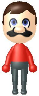 It's a mii Mario!  I'm dead!!! hahaaha