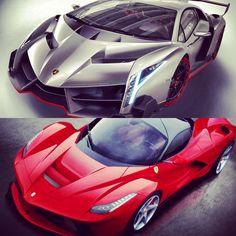 Lambo Veneno Vs La Ferrari