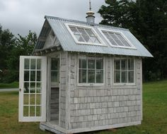 corrugated tin roof with windows