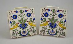 Auction House: Andrew Smith & Son Date: Tuesday 11 February 2014 Two French Faience tiles decorated with birds and flowers