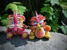 Polymer Clay Dragon Set Inspired by Chinese Legend Folklore - Limited Edition Handmade Collectible by KatersAcres on Etsy