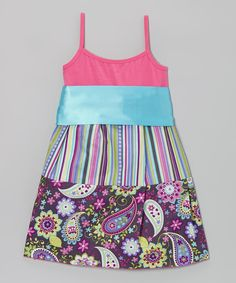 Do, with shirt & remnants! ---  Take a look at this Pink & Purple Paisley Dress - Toddler & Girls on zulily today!