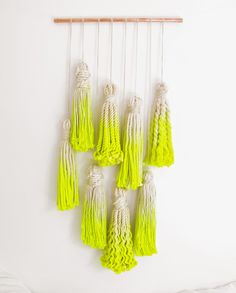 Macrame wall hanging via The Six Week Boutique.
