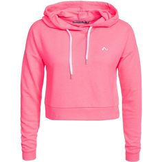 Only Play Onplavina Cropped Sweat ($37) ❤ liked on Polyvore featuring tops, hoodies, sweatshirts, jumpers & cardigans, pink, sports fashion, womens-fashion, pink top, sports sweatshirts and cropped hooded sweatshirt
