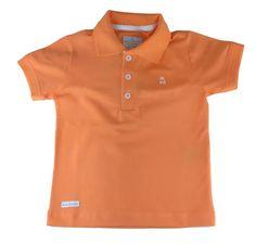 Camiseta polo infantil masculino Banana Danger laranja - 6b10a3b4df9