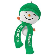 Hallmark Keepsake 2017 Cute Snowman Grandson Dated Christmas Ornament Snowman Christmas Ornaments, Baby First Christmas Ornament, A Christmas Story, Christmas Stuff, Hallmark Keepsake Ornaments, Personalized Ornaments, Lampoons Christmas, Lampoon's Christmas Vacation, Cute Snowman