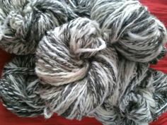 Hand spun Jacob sheep wool by RebeccasWool on Etsy Jacob Sheep, Sheep Wool, Hand Spinning, Unique Jewelry, Handmade Gifts, Hair Styles, Pictures, Etsy, Vintage