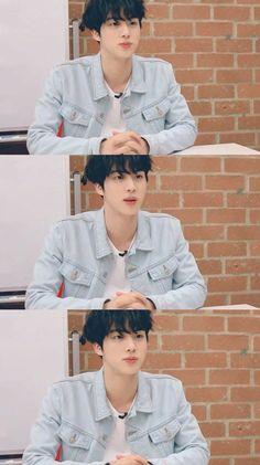 Jin Looking like a lil shanck👀🥰 Seokjin, Kim Namjoon, Hoseok, Jimin, Bts Bangtan Boy, Taehyung, Foto Bts, Btob, Mamamoo