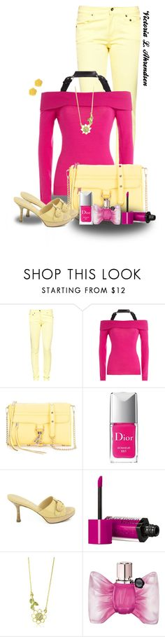 """""""Outfit Set #27! :-)"""" by vahrendsen1988 ❤ liked on Polyvore featuring Great Plains, Moschino, Rebecca Minkoff, Christian Dior, Chanel, Bourjois, Juicy Couture, Viktor & Rolf, Dollydagger and yellow"""