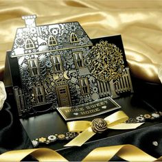Midnight Elegance Topper Set - Home & Garden (Glistening Gold)   Hunkydory Crafts