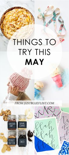 Some craft DIYs and Recipes to try this month