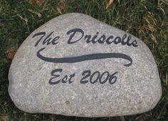 Personalized Stone Address Marker Unique Birthday Gifts 6-7 Inch Garden Address Marker Engraved Stone