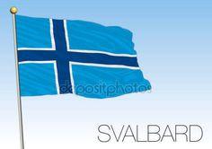 Bandiera di Svalbard, Norvegia — Vettoriali Stock © frizio #132781624
