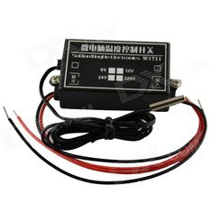Product Name: microcomputer temperature control switch; Output Type: Direct Output; Power range: AC 220V; Output Capacity: Maximum current 5A, Power Max. 1000W; Temperature range: -15'C~70'C; Setting Accuracy: 5'C; Default Backlash: 2'C; Temperature probe: NTC 3950 / B = 10K (waterproof type 1m) http://j.mp/1v2Dl7j